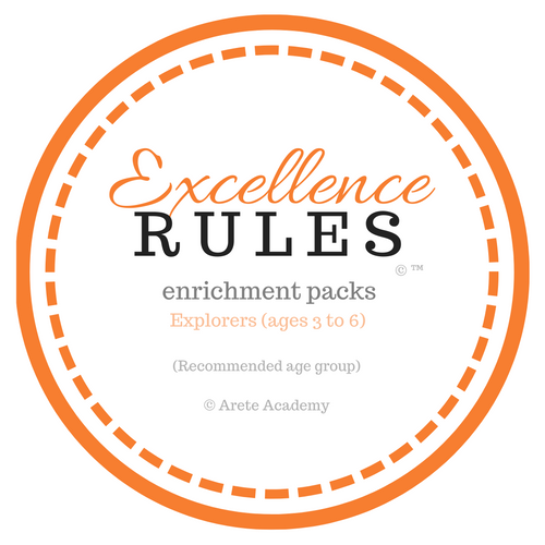 Excellence RULES enrichment pack | Explorers | ages 3 to 6