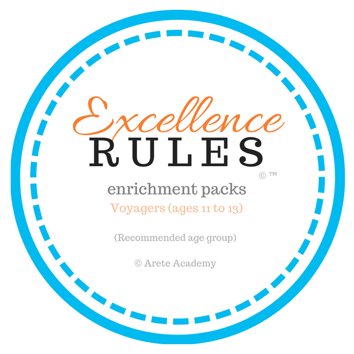 Excellence RULES enrichment pack | Voyagers | ages 11 to 13