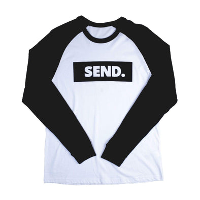 dewerstone Small SEND Logo Baseball Long Sleeve - Black