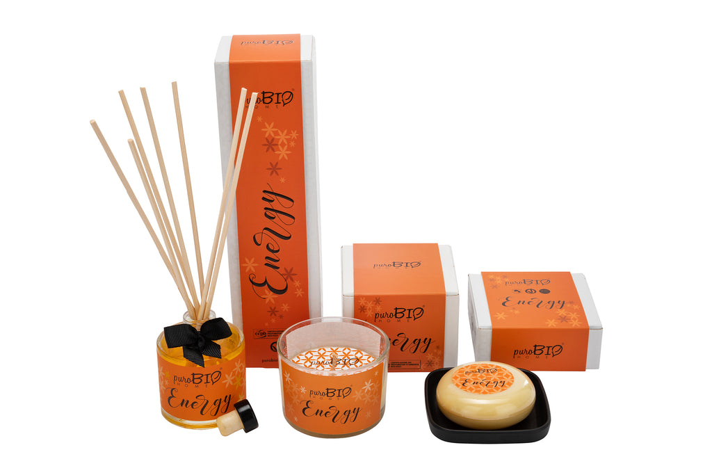 BIO SET ENERGY Energizing - Diffuser + Candle + Soap Kit