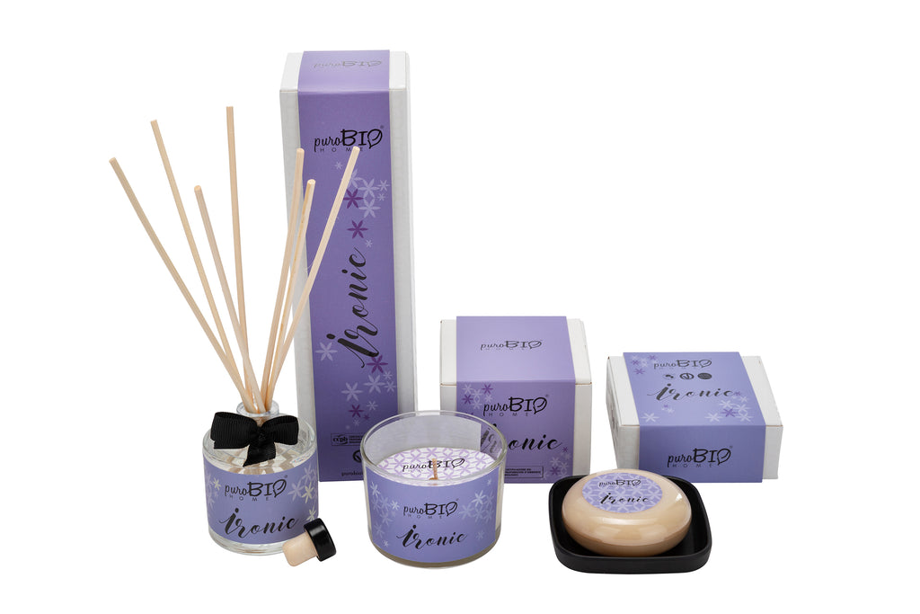 BIO SET IRONIC Relaxing - Diffuser + Candle + Soap Kit