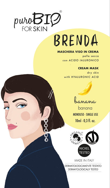 BRENDA FACE MASK IN CREAM WITH BANANA AND HYALURONIC ACID - FOR DRY SKIN