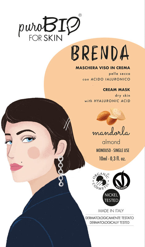 BRENDA FACE MASK IN CREAM WITH ALMOND AND HYALURONIC ACID - FOR DRY SKIN