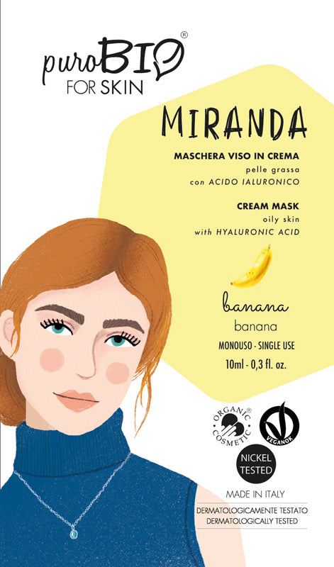 MIRANDA FACE MASK IN CREAM WITH BANANA AND HYALURONIC ACID - FOR OILY SKIN