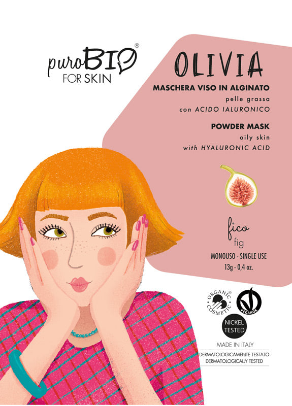 OLIVIA FACE MASK IN ALGINATE WITH FIG AND HYALURONIC ACID - FOR OILY SKIN