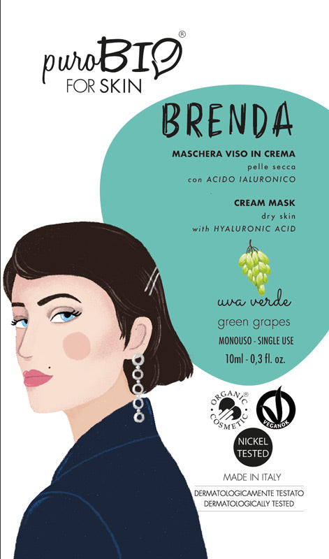 BRENDA FACE MASK IN CREAM WITH GREEN GRAPES AND HYALURONIC ACID - FOR DRY SKIN