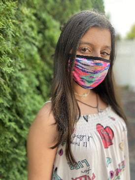Electric Zebra | 2-Layer Cotton Mask for Young Adults