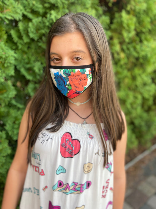 Flower Power | 2-Layer Cotton Mask for Young Adults
