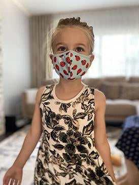 LadyBug Hug | 3-Layer High-Efficiency Protective Mask for Kids Ages 3-11