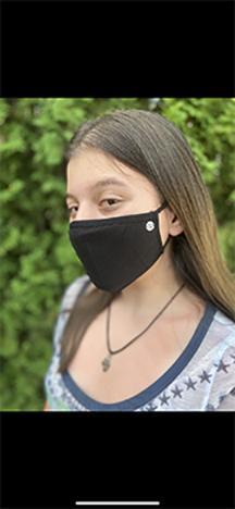 Base Black | 2-Layer Cotton Mask for Young Adults