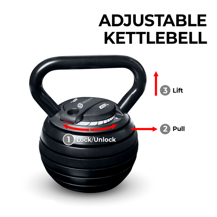 40 LBS Adjustable Kettlebells by Critical Supplies™ - FREE SHIPPING!
