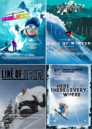 4 Warren Miller DVD Bundle