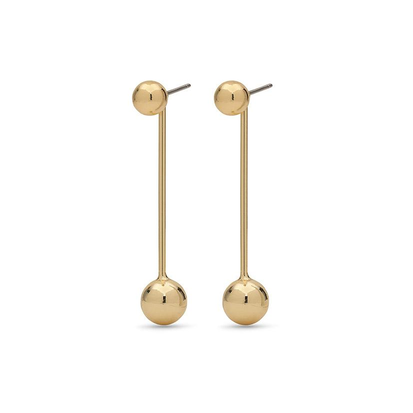 Earrings Poe Gold Plated by Pilgrim - Maaike Kleedt Online