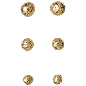 Earrings 3134  Gold Plated 3in a set - Maaike Kleedt Online