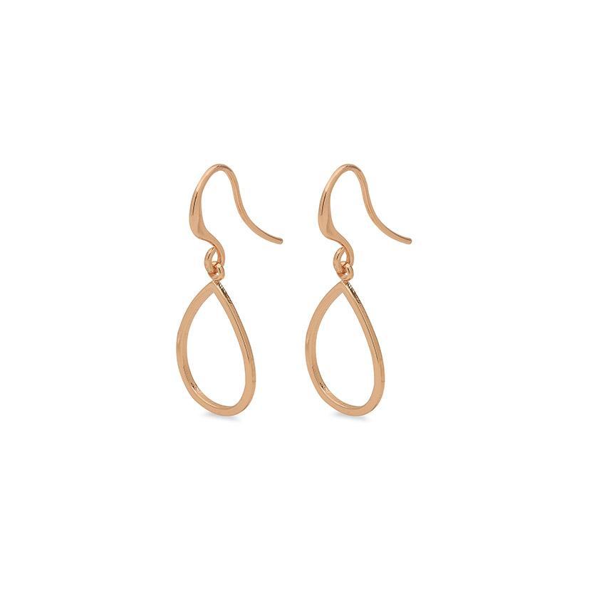 Earrings Roxy Rose  Gold Plated by Pilgrim