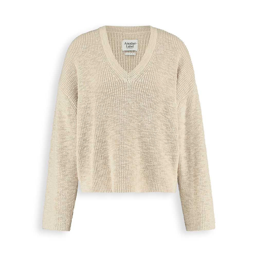 Knit SATSUKI PULL  beige melange Another Label