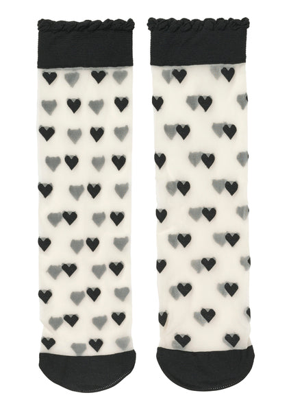 Socks Dagmar Hearts Black