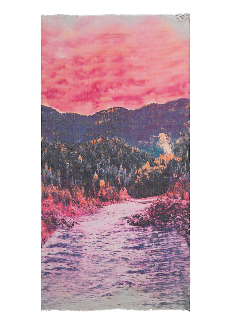 Scarf Mountains Pink