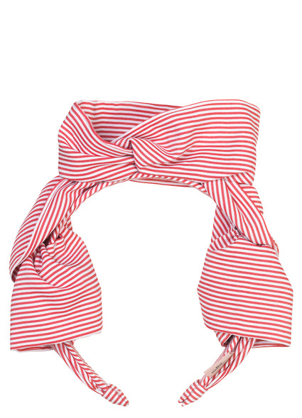 Headband Summer Stripes Red - Maaike Kleedt Online