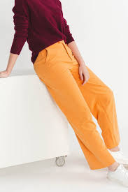 Pants RIBEA buckskin orange