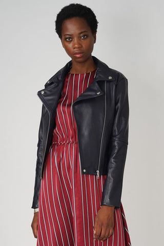 Jacket leather lamb skin - Maaike Kleedt Online