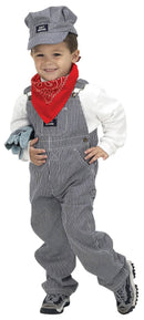 Aeromax Boys' Train Engineer Toddler Child Costume - Costume Arena