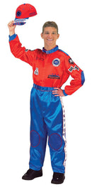 Aeromax Men's Red & Blue Racing Suit Adult Costume - Costume Arena