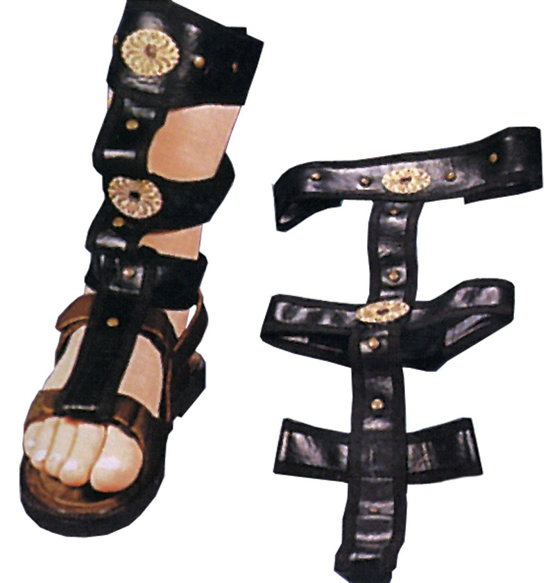 Alexander's Costumes Men's Roman Sandal Spats Warrior Accessory - Costume Arena