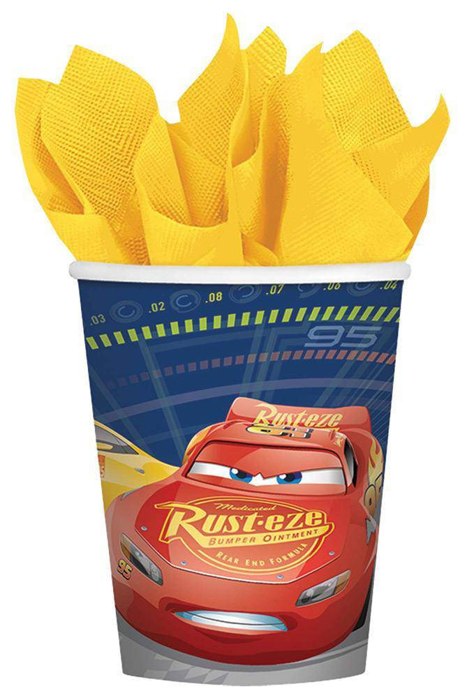 amscan 9oz Disney Cars 3 Cups Party Decoration - Costume Arena