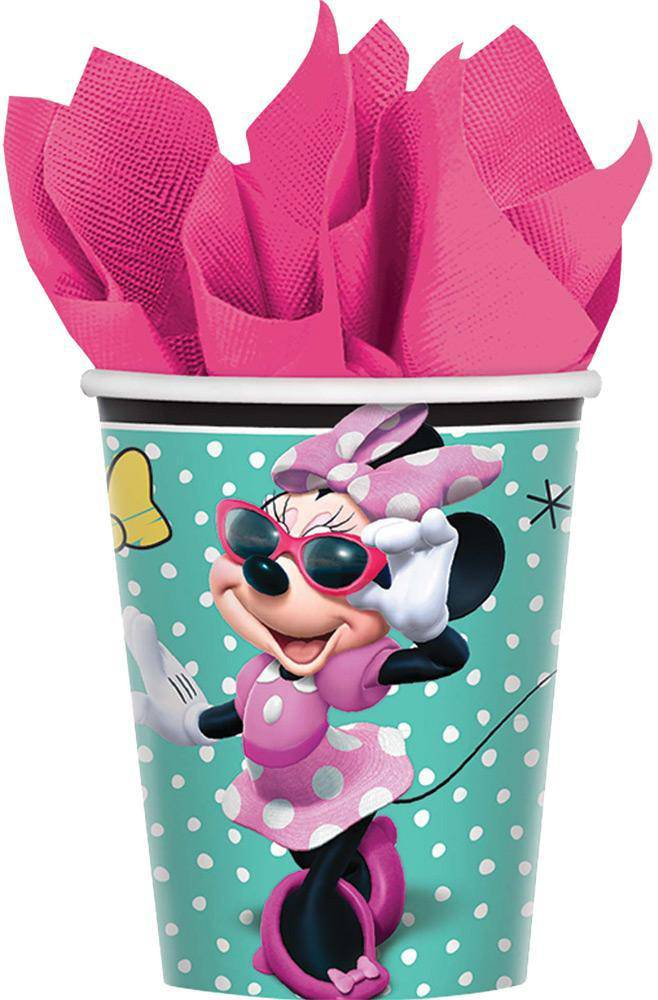 amscan 9oz Minnie Helpers Cups Party Decoration - Costume Arena