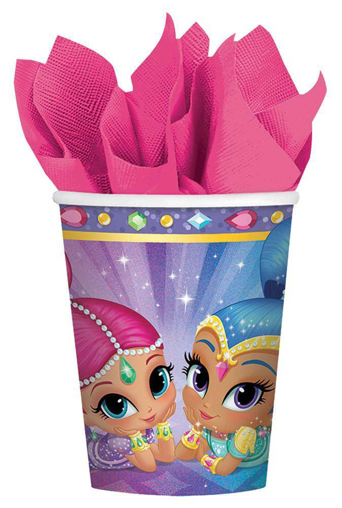 amscan 9oz Shimmer Shine Cups Party Decoration - Costume Arena
