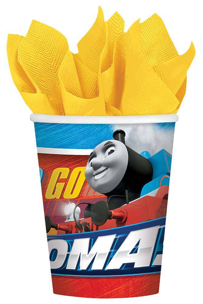 amscan 9oz Thomas The Tank Cups Party Decoration - Costume Arena