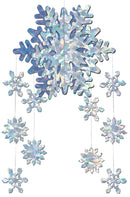 Beistle 3D Snowflake Mobile Theme Party Decoration - Costume Arena