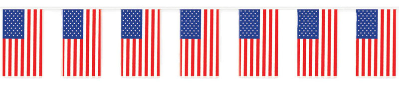 Beistle American Flag Banner Outdoor Decoration - Costume Arena