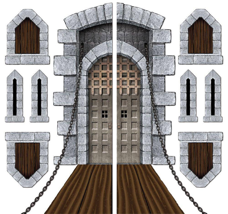 Beistle Castle Door & Window Props Theme Decoration - Costume Arena