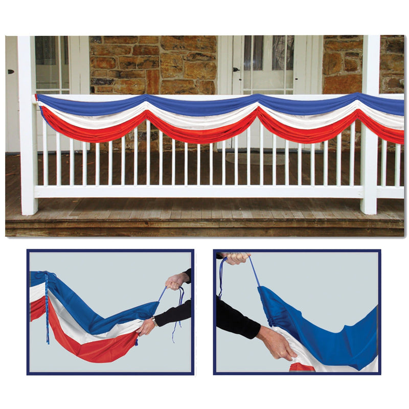 Beistle Fabric Bunting Patriotic Theme Decoration - Costume Arena