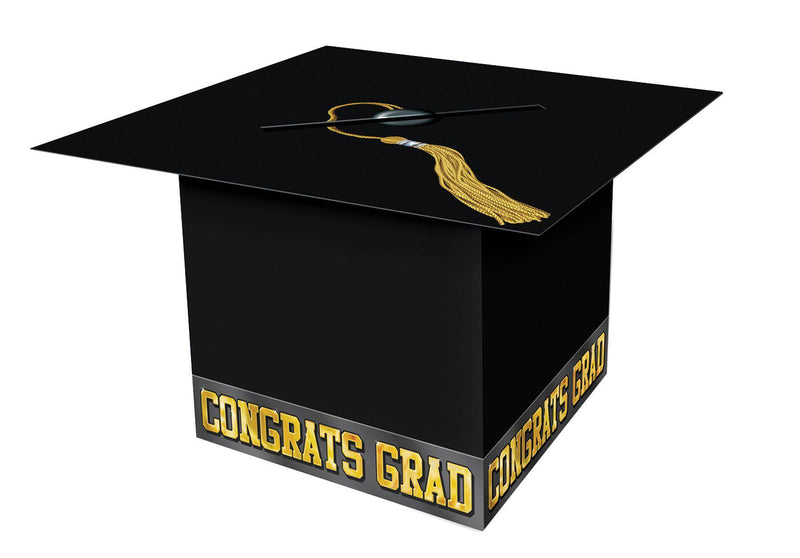 Beistle Grad Cap Card Box Theme Party Decoration - Costume Arena