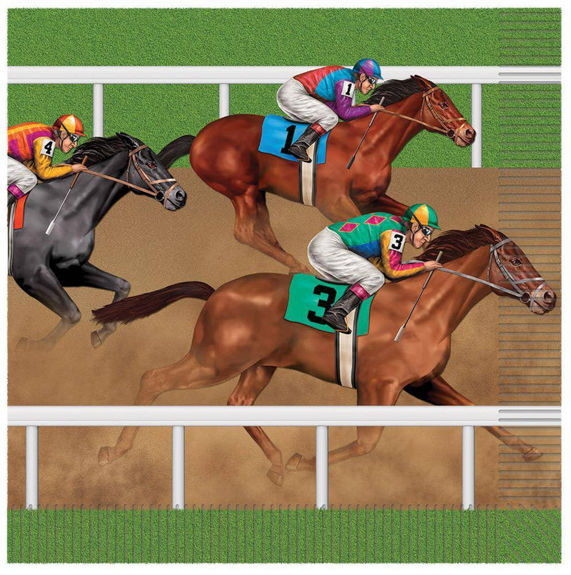Beistle Horse Racing Napkins Theme Party Decoration - Costume Arena