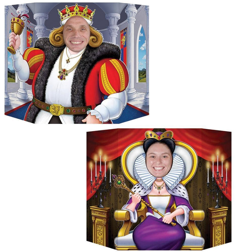 Beistle King & Queen Photo Prop Theme Decoration - Costume Arena