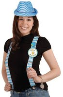 Beistle Oktoberfest Suspenders Theme Adult Accessory - Costume Arena
