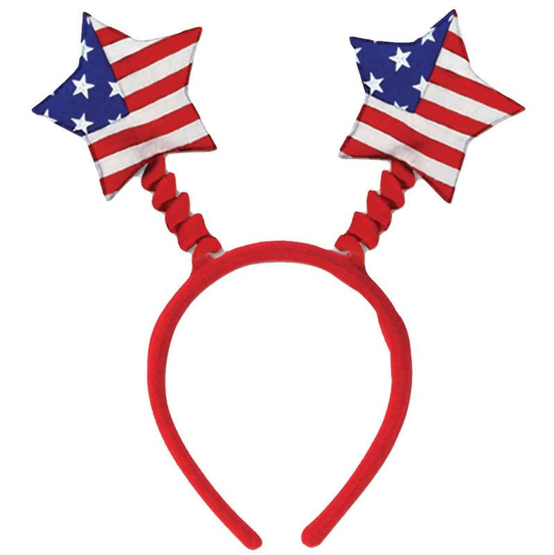 Beistle Patriotic Star Boppers Headband Accessory - Costume Arena