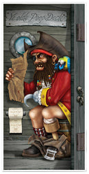 Beistle Pirate Restroom Door Cover Theme Decoration - Costume Arena