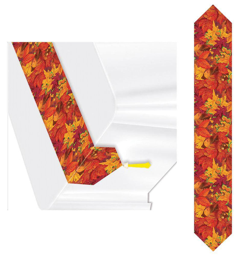 Beistle Printed Fall Leaf Table Runner Decoration - Costume Arena