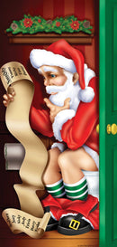 Beistle Santa Resatroom Door Cover Party Decoration - Costume Arena