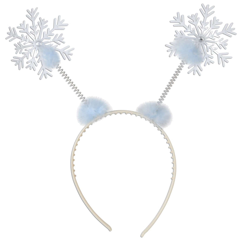 Beistle Snowflake Boppers Headband Theme Accessory - Costume Arena