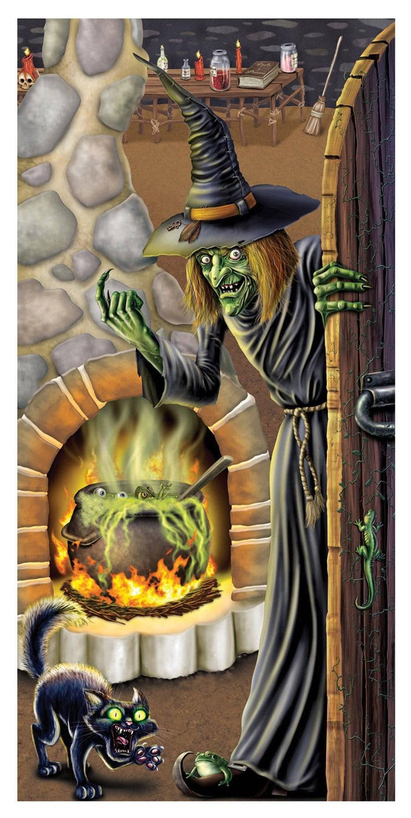 Beistle Witch Brew Door Cover Haunted Decoration - Costume Arena