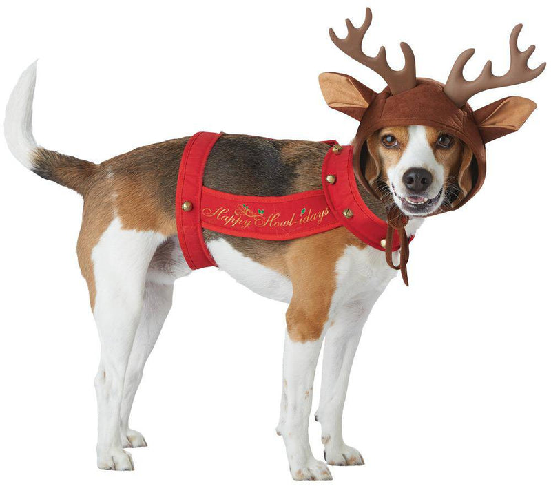 California Costumes Cute Reindeer Christmas Funny Dog Costume - Costume Arena