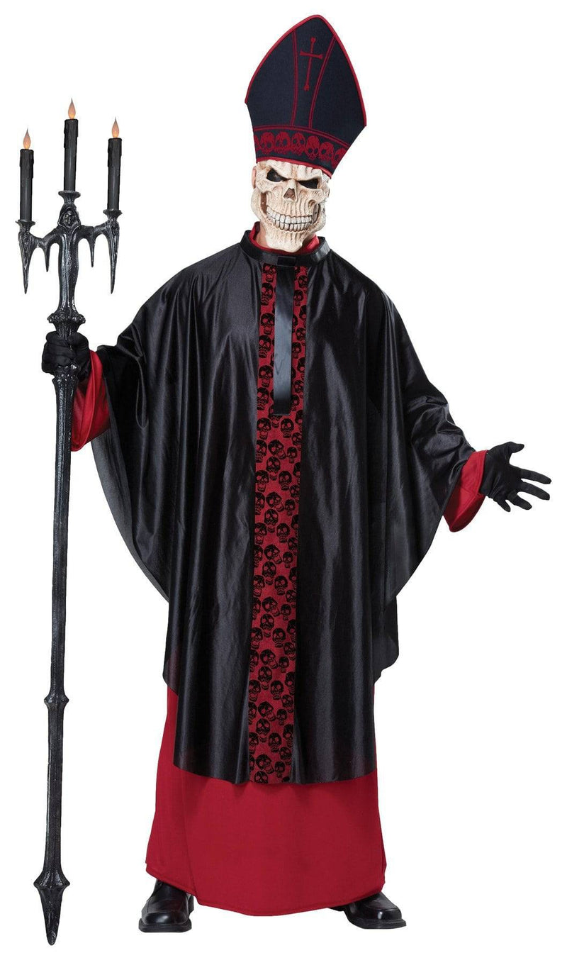 California Costumes Men's Black Mass Scary Theme Gothic Costume - Costume Arena