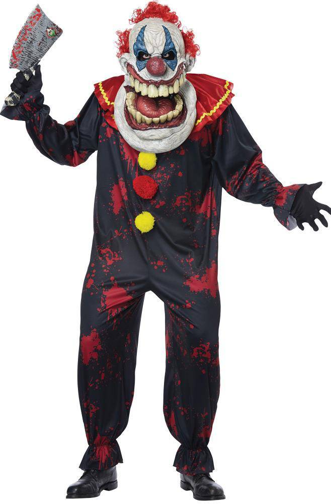 California Costumes Men's Die Laughing Clown Scary Party Costume - Costume Arena