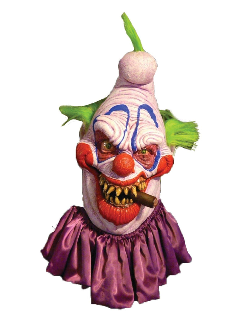 Chuck Jarman Big Boss Clown Horror Movie Theme Latex Mask - Costume Arena